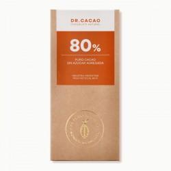 Chocolate 80% cacao sin azúcar