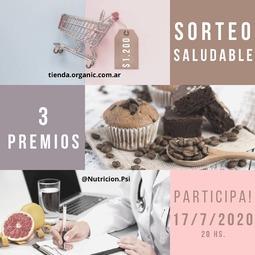 GANADOR: @caarlihuber Felicitaciones!!!  Video en historia . Sorteo Saludabe ➖ 3 premios📣 . Queremos festejar los 🎉4.000 seguidores 🎉 y regalarte productos saludables y una sesión online nutricional para que día a día elijas alimentarte cada vez mejor 🎁🎁 . ¿Qué tenés que hacer para participar❓Es muy fácil‼️ . 1️⃣Dale like a esta publicación ❤ 2⃣ Seguí a las 3 cuentas: @OrganicRosario , @OrganicArgentina y @Nutricion.Psi 3⃣ Dejá un comentario etiquetando a 2 amigos que les interese alimentarse bien (que no sean influencer, marcas ni famosos). ✅Ellos también tienen que seguirnos!! ☝️🙌 4⃣ ¡Ya estás participando! Más comentarios, más chances de ganar. (Mencionando a personas diferentes). . . 🚨 BONUS TRACK >>> DOBLE CHANCE > Subí la foto a tus stories! No olvides etiquetar (@) a las 3 cuentas para que lo podamos ver! Si tenes la cuenta privado mandanos la captura 📸. . . 🎉 Podes participar hasta el 17/07/2020 19:59 hs. El sorteo se realizará ese mismo día a las 20 hs. y comunicaremos el ganador en este mismo posteo y en nuestras Stories. . 🔅el presente concurso es sólo válido para residentes en Argentina y hayan cumplido todas las consignas. 🔅el premio consta de 1 orden de compra de💲1.200 en el almacén de productos naturales y orgánicos tienda.organic.com.ar, 6 muffins saludables sabor a elección, 1 budín saludable sabor a elección y una consulta online nutricional con la Lic. en Nutrición Galbiatti Milagros MN 10065. . 📬 El ganador tendrá una semana para contactarse y coordinar el retiro o envio de los premios (a cargo del ganador), caso contrario se vuelve a sortear. . . . . . #sorteoargentino #Sorteo #rosarionorte #rosariosur #rosariocentro #fisherton #fishertonplaza #echesortu #rosario #concursoargentina #SorteoArgento #instasorteo #SorteoEnCuarentena #bloggerargentina #bloggerargentina #sorteos #participaygana  #precios #nutricionsaludable #tipsdenutricion #comidasanaysaludable #nutricionfitness #sorteoexpress #nutricionrosario #sorteazo
