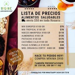 Nueva lista de frutos secos 💯% saludables. 🌱 @organicrosario 🌱 . Frutos secos por mayor y menor envasados en 100gr.🔅250gr.🔅500gr.🔅1Kg.🔅5kg.  . Cómo los pedís❓ . 📲Por mensaje privado 📩Por mail a info@organic.com.ar  Por Whatsapp al 543412017318 . Etiquetá a amigos que quieras cuidar para que vean esta oferta‼️ . . . . . . . #nuecespecan #castañas #pasas #nuecesdecalifornia #nuecesyalmendras #mixfrutossecos #pistacho #rosario #rosariocentro #rosariozonanorte #frutossecosrosario #almendrasreposteria #alimentacionfitness #snacksaludable #alimentacionfitness #alimentacionfit #alimentaciónfit